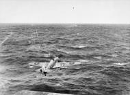 Asisbiz Fleet Air Arm 825NAS Sea Hurricane takes off from the flight deck of HMS Vindex IWM A22735