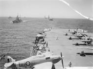 Asisbiz Fleet Air Arm Hurricane 7T V7506 aboard HMS Victorious Malta convoy Operation Pedestal 22nd Aug 1942 AWM A11285