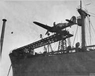 Asisbiz MSFU Sea Hurricane I NJL V6756 aboard a CAM ship Catapult Armed Merchant Greenock IWM A9422