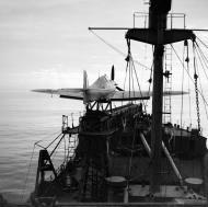 Asisbiz MSFU Sea Hurricane I V6733 aboard CAM ship SS Empire Darwin IWM NA3437
