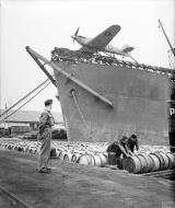 Asisbiz MSFU Sea Hurricane I W9182 aboard a Catapult Armed Merchantman CAM ship Algeria IWM CNA423