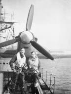 Asisbiz MSFU Sea Hurricane aboard CAM ship SS Empire Tide at Hvalfjord Iceland 14th Jun 1942 IWM A10113