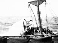 Asisbiz MSFU Sea Hurricane aboard CAM ship encountering Atlantic gales IWM A10248