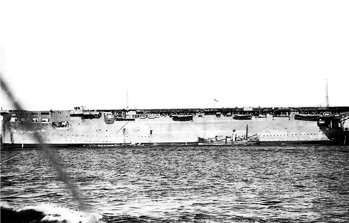 HMS Argus from which the Hurricanes took off for the airfield at Vayenga near Murmansk 7th Sep 1941 02