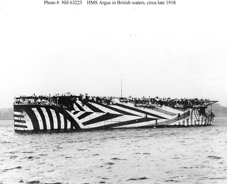 HMS Argus in British waters late 1918 01
