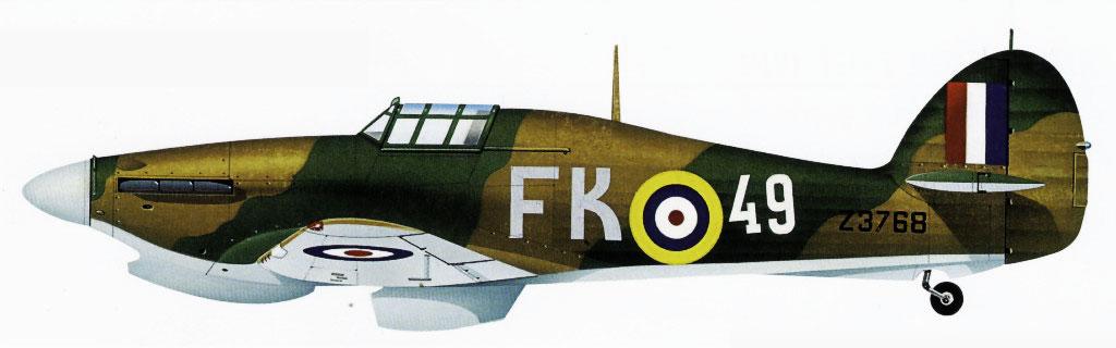 Hurricane IIa Trop 78IAP Northern Fleet Air Force FK49 Z3768 Vaenga Soviet Russia Sep 1941 0A