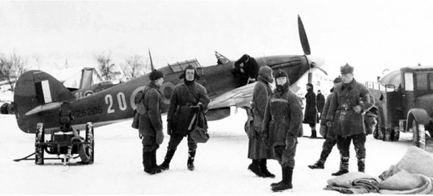 Hurricane IIb RAF 151 Wing 134Sqn GG20 Z5205 Murmansk USSR 1941 V01