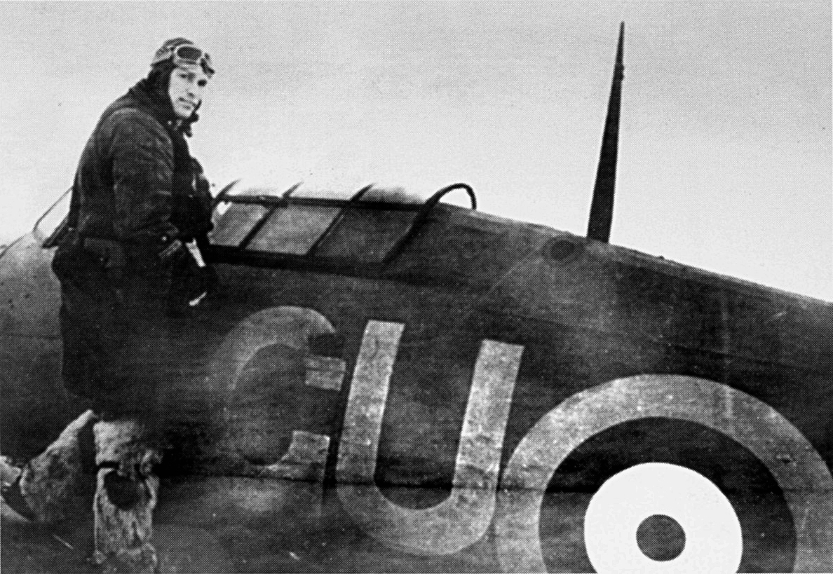 Hurricane IIb RAF 151 Wing 134Sqn GU35 Z4018 with soviet pilot just love the winter flying boots 1941 01