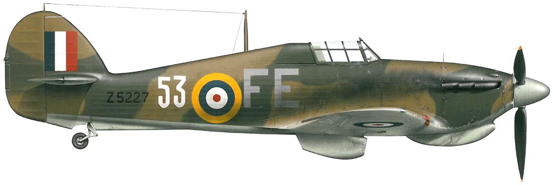Hurricane IIb Trop RAF 151 Wing 81Sqn FE53 Z5227 Vaenga USSR Oct 1941 0A