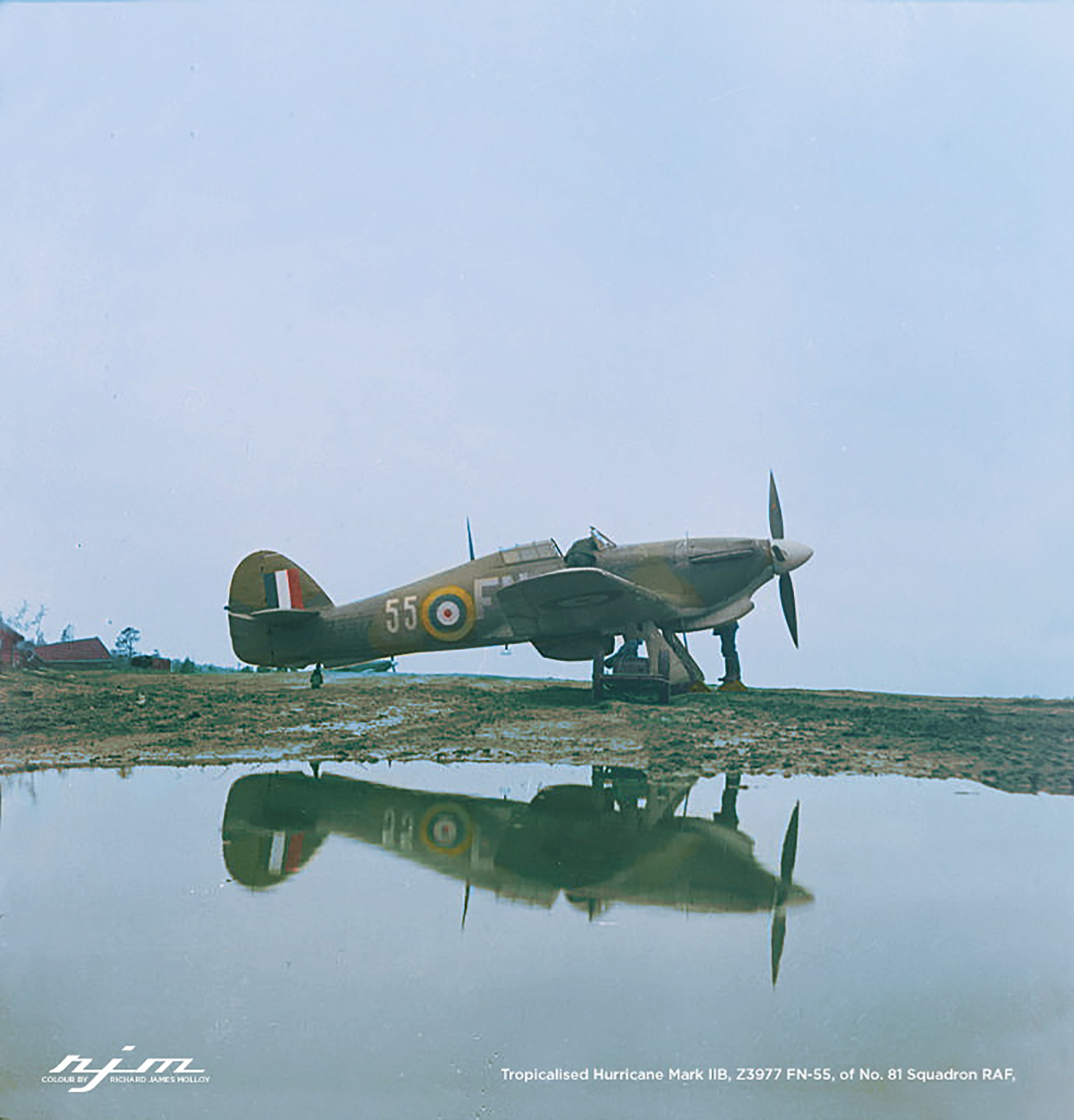 Hurricane IIb Trop RAF 151 Wing 81Sqn FN55 Z3577 Vaenga USSR Oct 1941 01