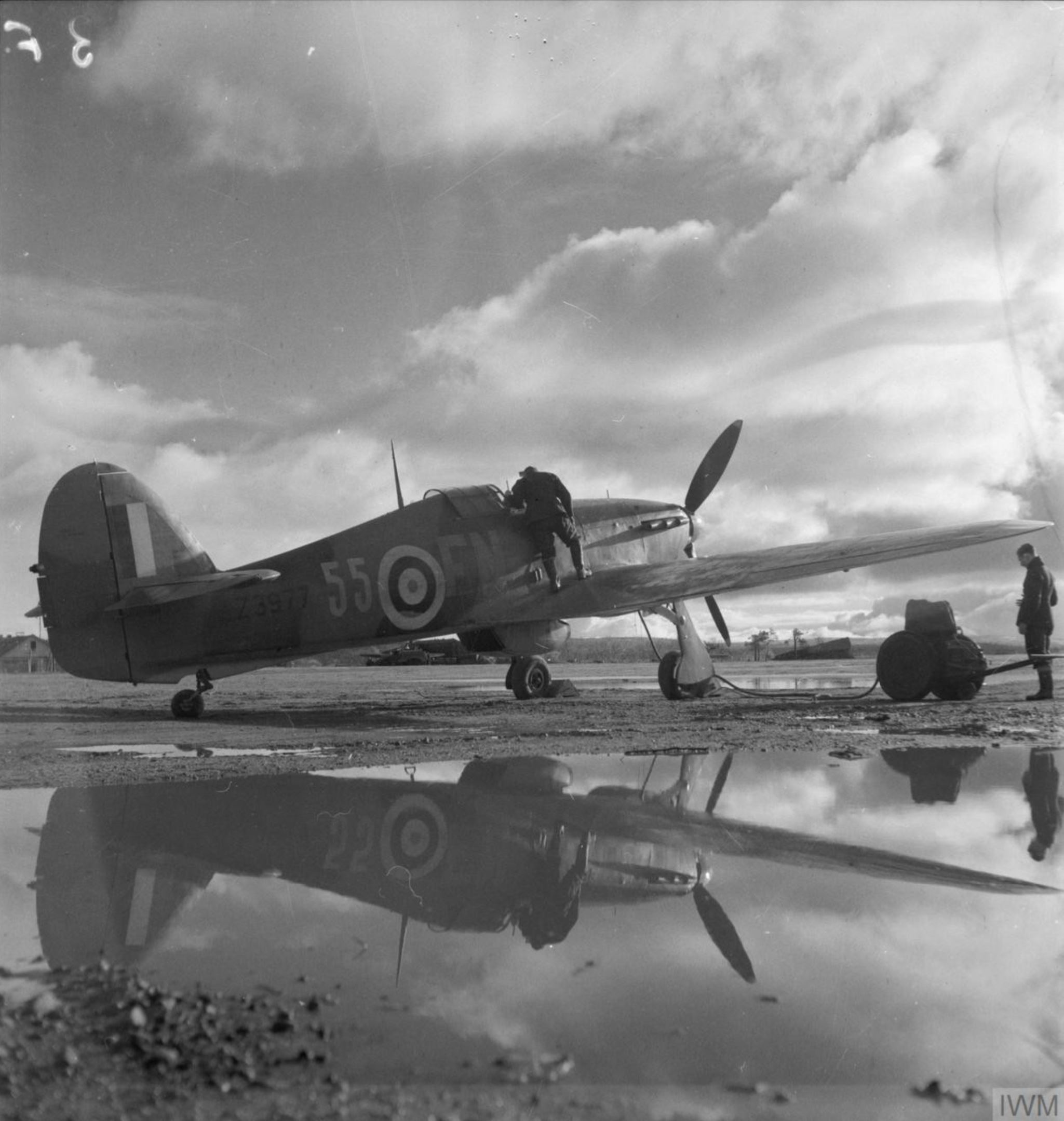 Hurricane IIb Trop RAF 151 Wing 81Sqn FN55 Z3577 Vaenga USSR Oct 1941 IWM CR36