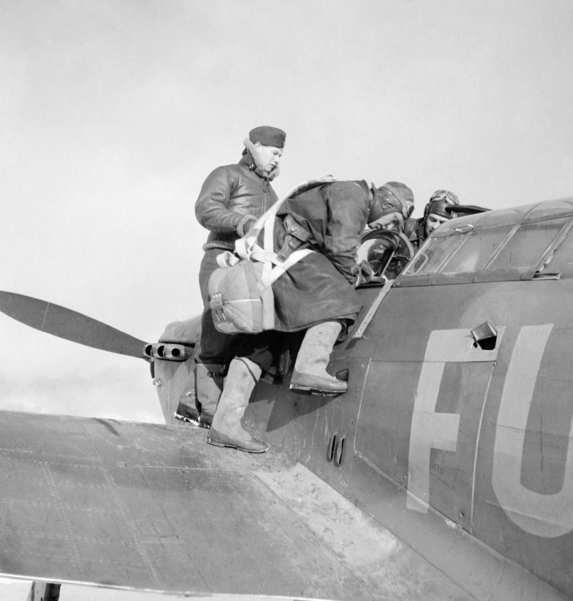 Hurricane IIb Trop RAF 151 Wing 81Sqn FU56 Z4017 Vaenga Oct 1941 IWM CR189