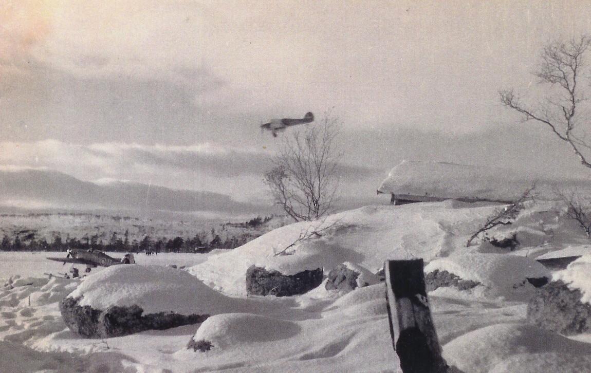 Hurricane IIb Trop RAF 151 Wing on final approach Vaenga USSR Oct 1941 01