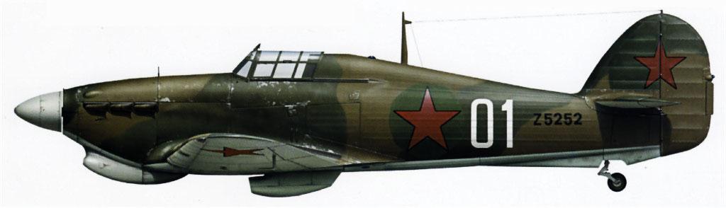 Hurricane IIb Trop USSR 78IAP Northern Fleet White 01 Gen AA Kuznetsov exRAF Z5252 Vaenga Sep 1941 0A