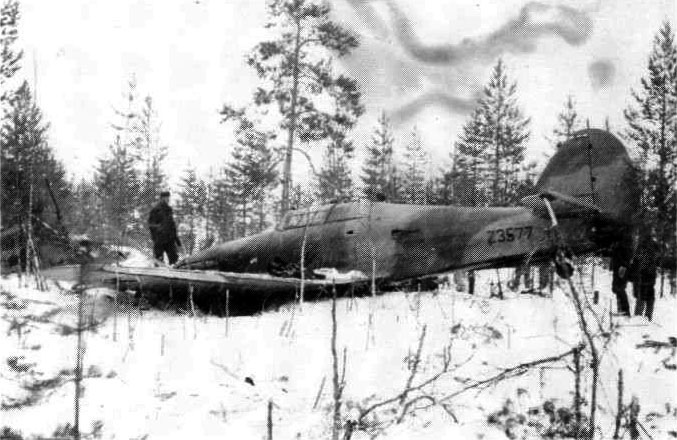 Hurricane IIb exRAF Z3577 Soviet Tiiksjarvi Air Base area East Karelian Front captured by Finns April 1942 01