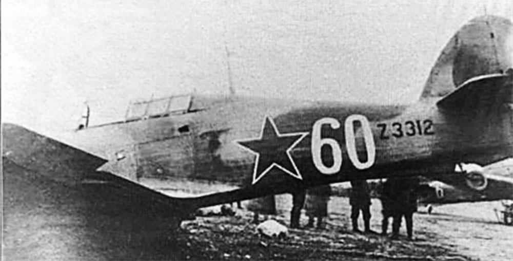 Hurricane I USSR 767IAP White 60 exRAF Z3312 defended Murmansk 1942