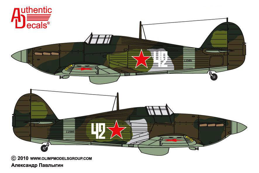 Hurricane II USSR 152IAP W42 Z2585 force landed  Tuoppajarvi and captured by Finnish forces 18th Feb 1942 0A