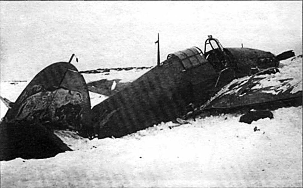 Hurricane II USSR 767IAP Maj LP Yuriev crashed Pod Uzhemye 7th Apr 1942 01