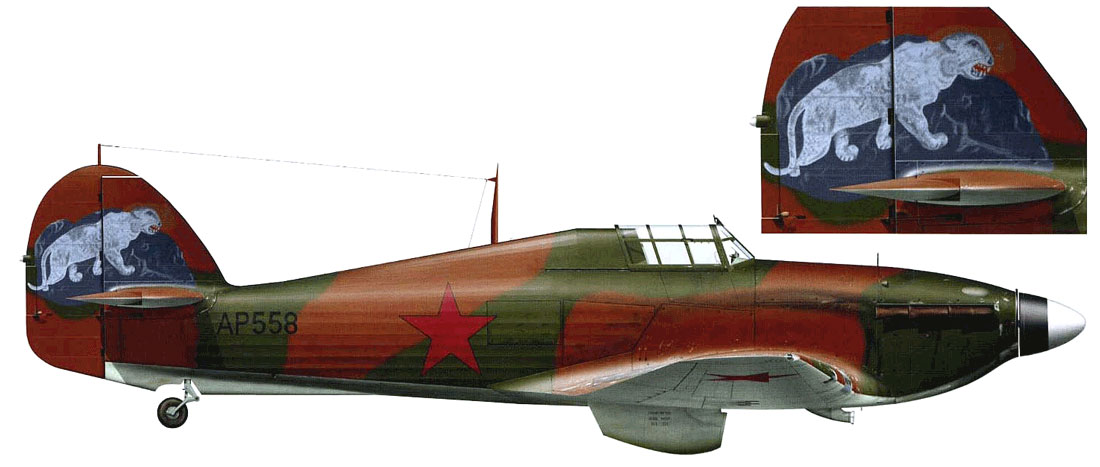 Hurricane II USSR 767IAP Maj LP Yuriev crashed Pod Uzhemye 7th Apr 1942 0A