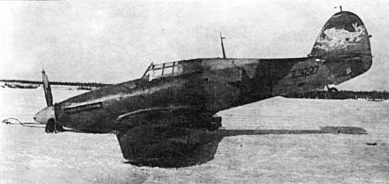 Hurricane II USSR 767IAP exRAF Z3227 Poduzhemiye airfield Karelia 21st Mar 1942 01