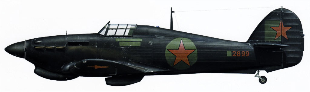 Hurricane IIa Trop USSR 6PVO Fighter Corps exRAF Z2899 Moscow 1942 0A