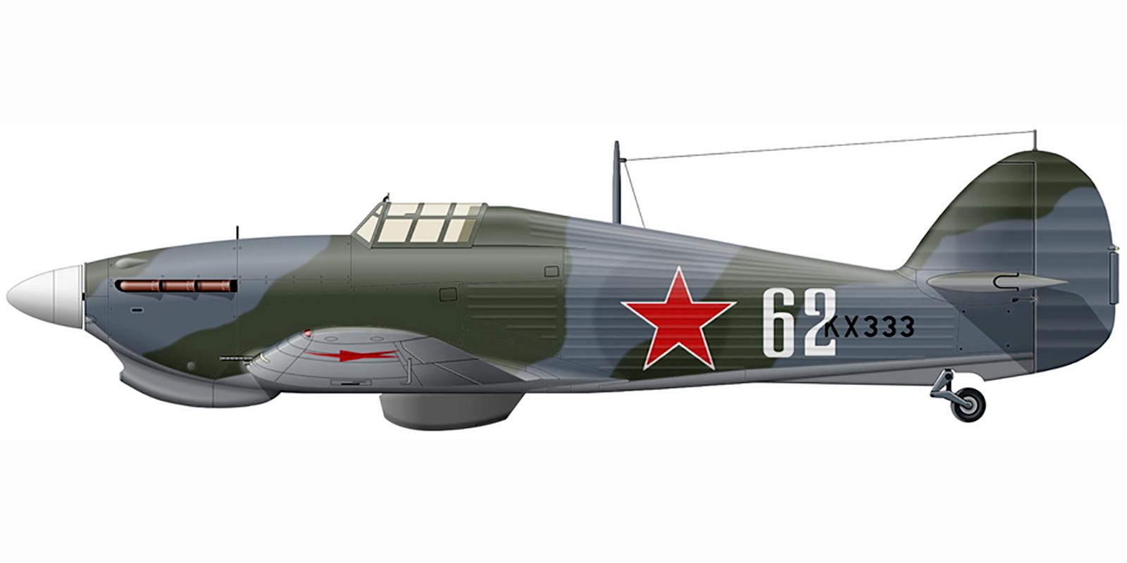 Hurricane IIb Trop USSR 78IAP Northern Fleet White 62 IA Bugakovy exRAF KX333 Vaenga Mar 1943 0A