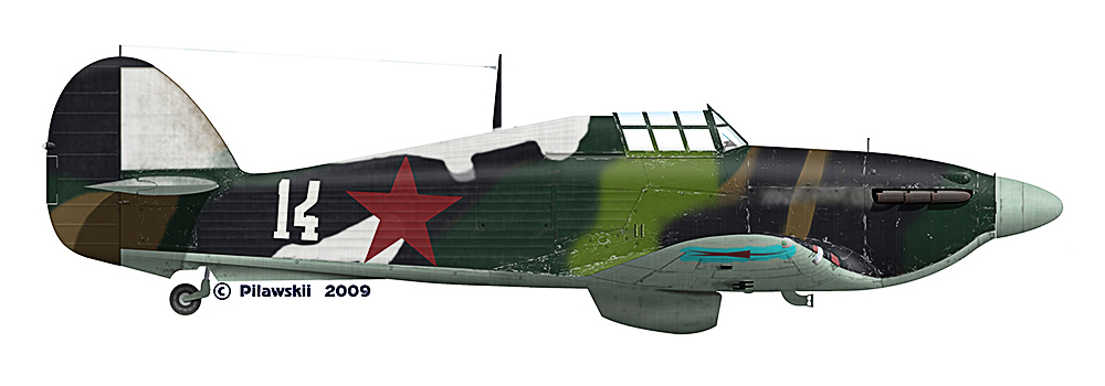 Hurricane IIb USSR Northern Fleet White 14 May June 1942 0A