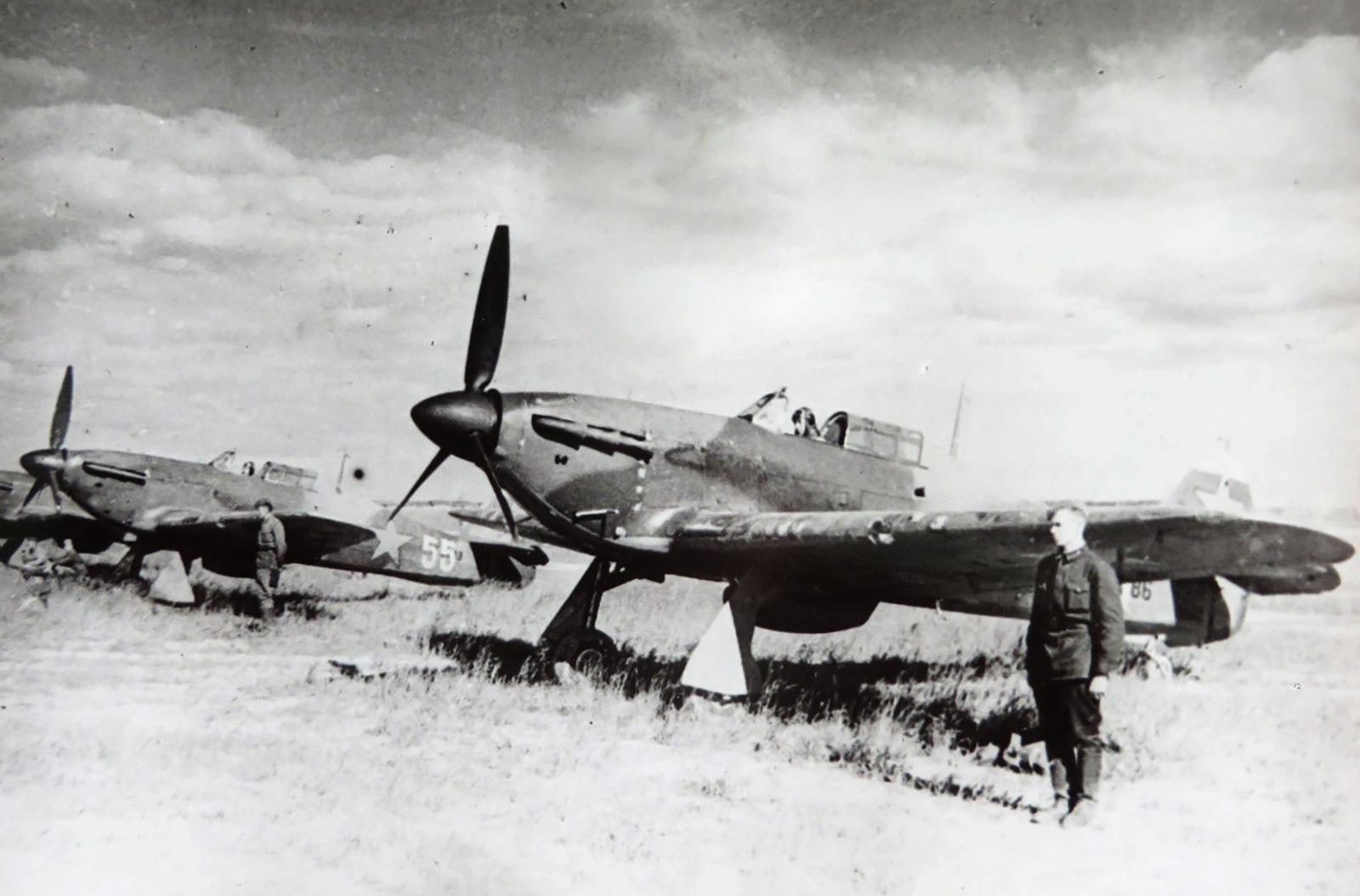 Hurricane USSR 1st Guards IAP White 55 at Kalininsky front spring 1942 01