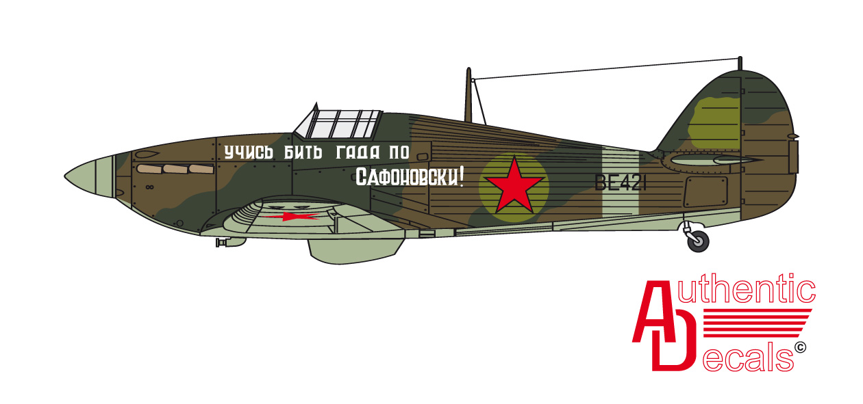 Hurricane USSR unknown unit BE421 Russia 1942