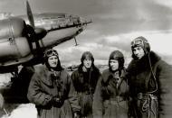 Asisbiz Aircrew Soviet 4APDD of 3rd long range division Heroes AP Rubtsov,Levkin, Ryabov and Abramov 01