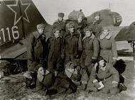 Asisbiz Ilyushin IL 4 (DB 3F) 20GBAP no 116 with personnel at Lublin Poland 3rd Dec 1945 01