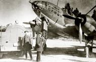 Asisbiz Ilyushin IL 4 1GMTAP with Capt PI Khokhlov supervising refueling Soviet Finnish front 1942 01