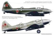 Asisbiz Ilyushin IL 4T 4GMTAP 2M87 White 8 2M88 Red 18 Soviet Russia 1945 0A
