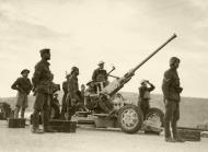 Asisbiz AA gun on look out for Italian raiders with Greek and British soldiers IWM E1172