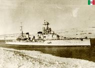 Asisbiz Battle of Cape Spada Italian Navy Bartolomeo Colleoni photographed passing through the Suez Canal IWM A233
