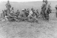 Asisbiz German paratroopers esort captured British soldiers after the Battle for Crete May 1941 ebay 01