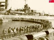 Asisbiz HMAS Sydney Troops and stores being embarked at Port Said prior to sailing to Crete 14 Nov 1940 IWM E1145