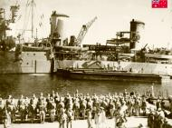 Asisbiz HMAS Sydney Troops and stores being embarked at Port Said prior to sailing to Crete 14 Nov 1940 IWM E1146