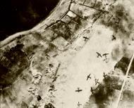 Asisbiz Maleme airfield Crete bombs exploding on from RAF 14Sqn Blenheim IVs based in Qotafiya III Egypt IWM CM880