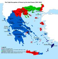 Asisbiz Map of occupied Greece showing the German and Italian occupation zones on Crete 0A