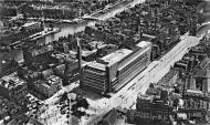 Asisbiz Aerial view of the Coolsingel with the famous Bijenkorf department store Bund