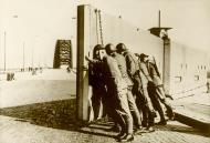 Asisbiz Dutch troops close the barrier of the Nijmegen Waal bridge during the Albania crisis Bund 01