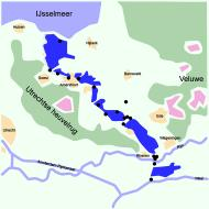 Asisbiz Map Grebbe line a defence line of the Dutch water line shown in dark blue wiki 0A