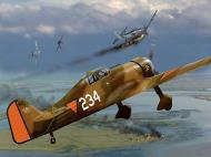 Asisbiz RNLAF Luchtvaartbrigade Fokker D.XXI White 234 painting depicting air war over Holland web 0A