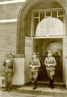 Asisbiz Winkelman (center) leaves the school building in which the negotiations took place 1940 Bund 01