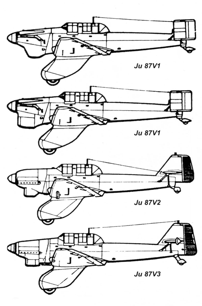 Asisbiz Diagram Of Junkers Ju 87 Stuka Prototype V Series