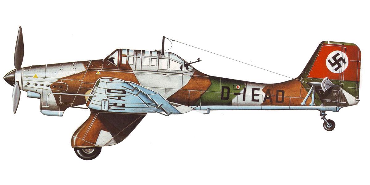 Junkers Ju 87A Stuka early production prototype D IEAD 0B