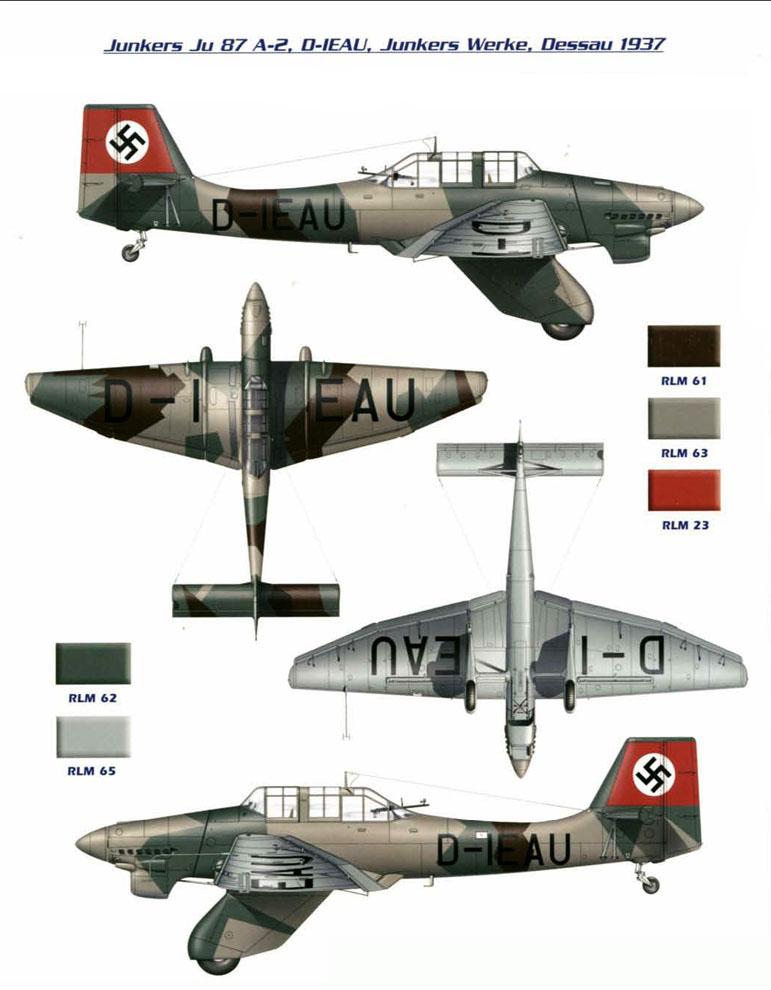Junkers Ju 87A Stuka early production prototype D IEAU 0A