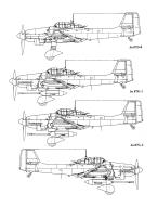 Asisbiz Diagram of Junkers Ju 87 Stuka blue print versions 0D