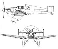 Asisbiz Diagram of Junkers Ju 87V1 Stuka prototype diagram 0A